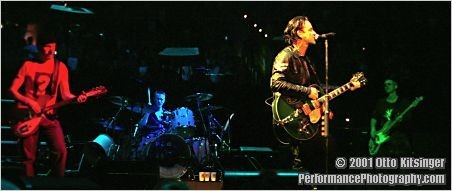Live concert photo of The Edge, Larry Mullen Jr, Bono, Adam Clayton