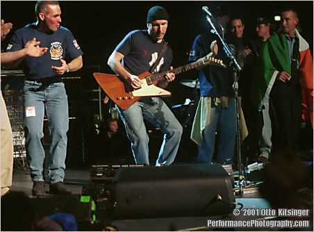 Live concert photo of The Edge, FDNY/NYPD/EMS