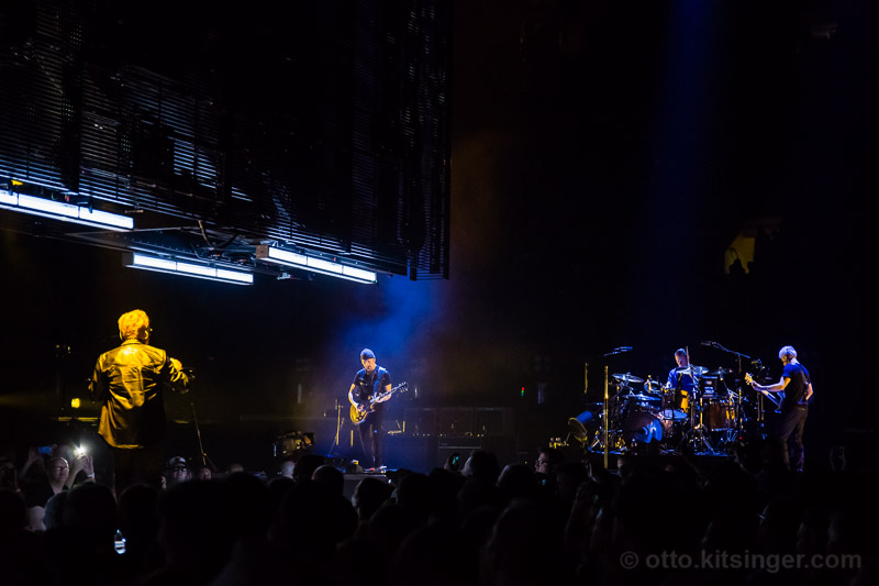 Live concert photo of Bono, The Edge, Larry Mullen Jr, Adam Clayton