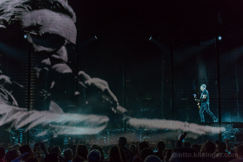Live concert photo of Bono, The Edge